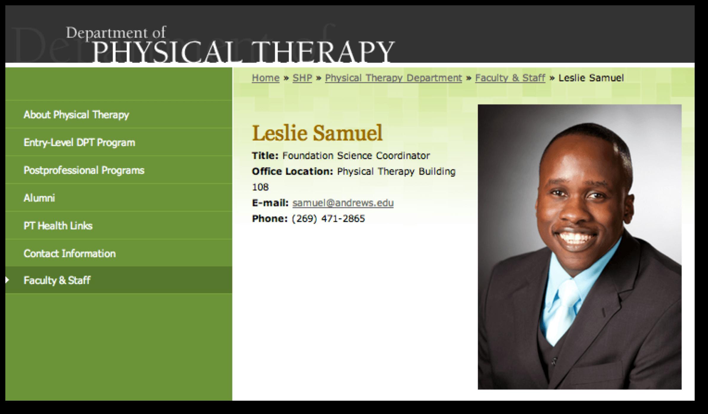 Professor Leslie Samuel