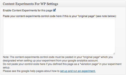 Content Experiments Plugin For WordPress