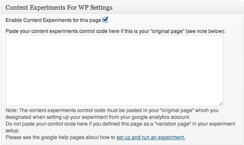 Content Experiments Plugin For WordPress
