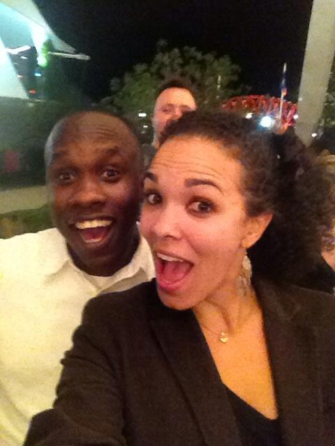 Serena Appiah and Leslie Samuel