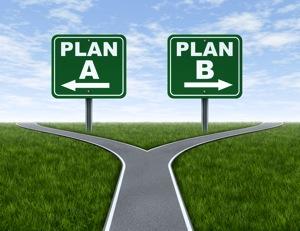 Plan A and Plan B crossroads