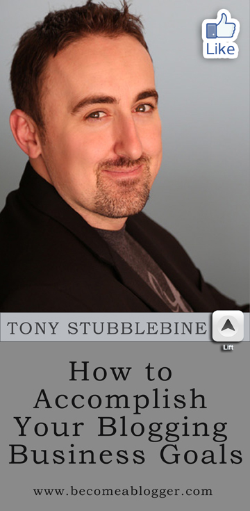 136 How To Accomplish Your Blogging Goals - With Tony Stubblebine of the Lift App