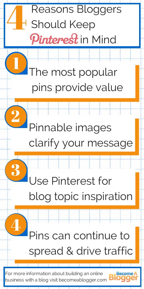4 Reasons Bloggers Should keep Pinterest in Mind infographic