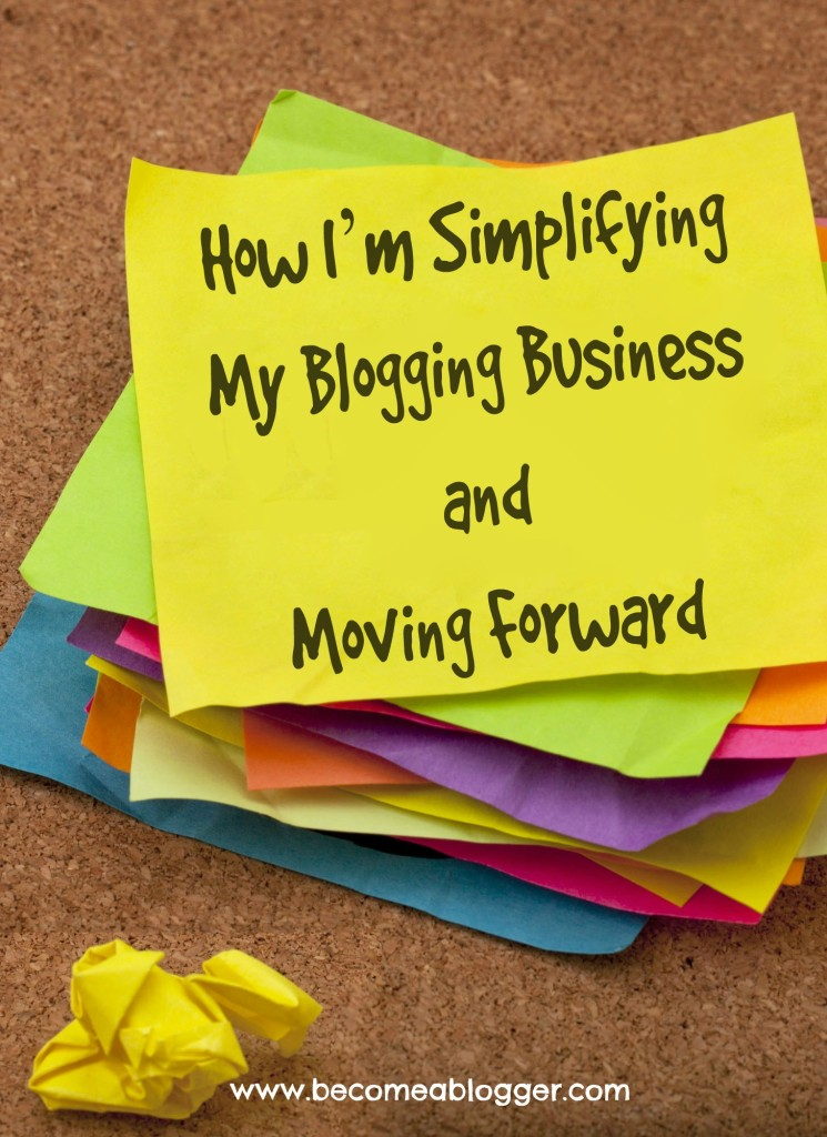 161 How I'm Simplifying My Blogging Business and Moving Forward