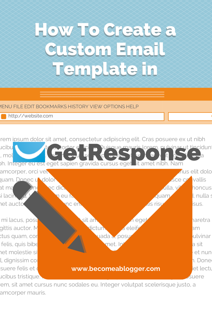 how to create a custom email template in getresponse