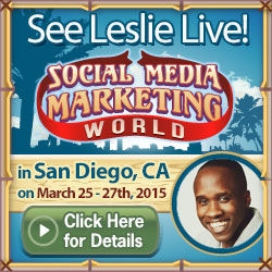 Leslie Samuel At Social Media Marketing World!