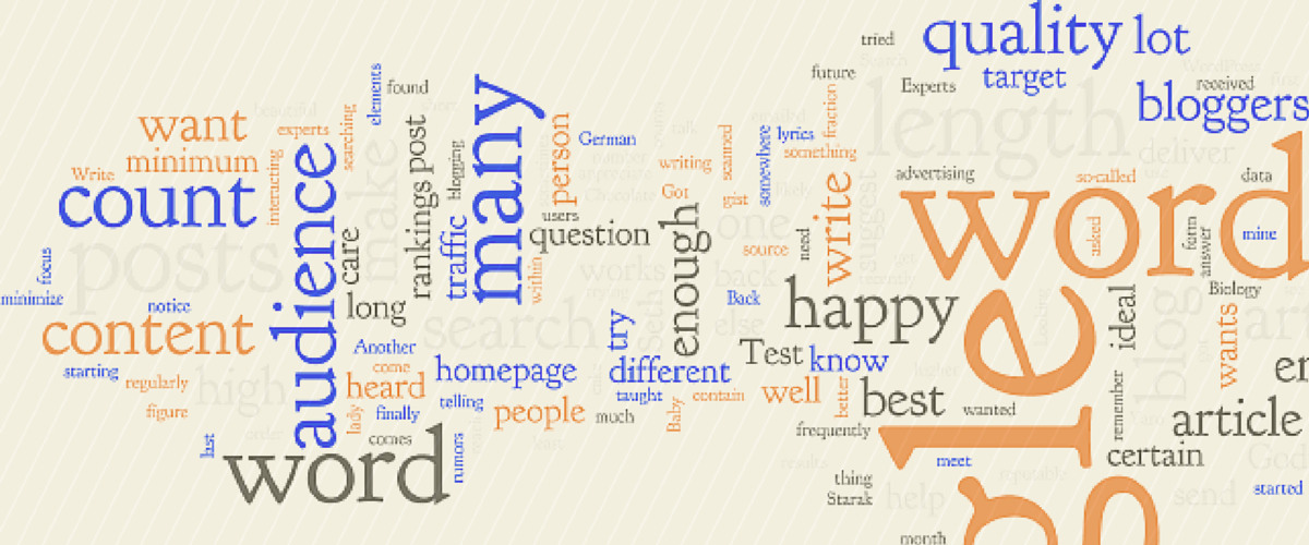 How Many Words Should My Blog Posts Be?