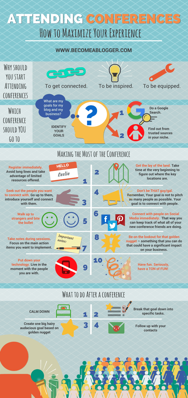 Attending Conferences Infographic