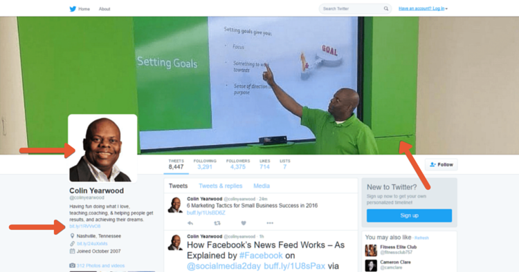 Colin Yearwood's Twitter Profile