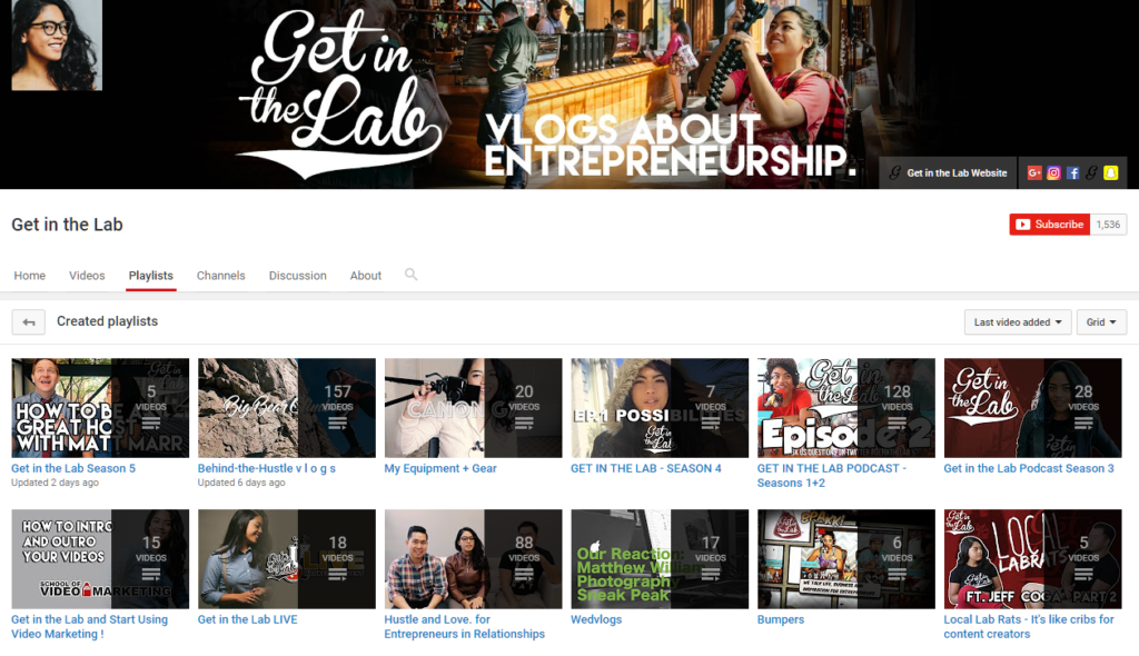 Get in the Lab Podcast YouTube Channel