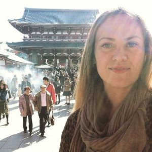 Gabby in Japan. Source: abroadlife.us