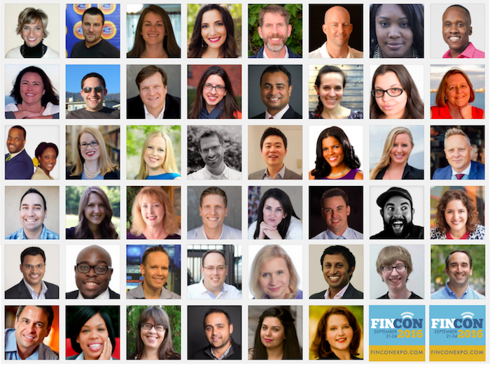 Some of the FinCon 2016 speakers with myself included.