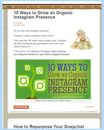 The Social Media Examiner Blog