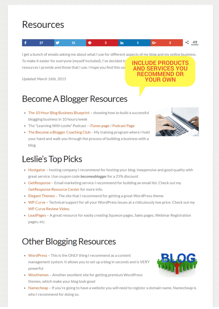 BAB Resources Page