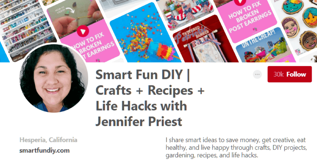 Smart Fun DIY Pinterest Page