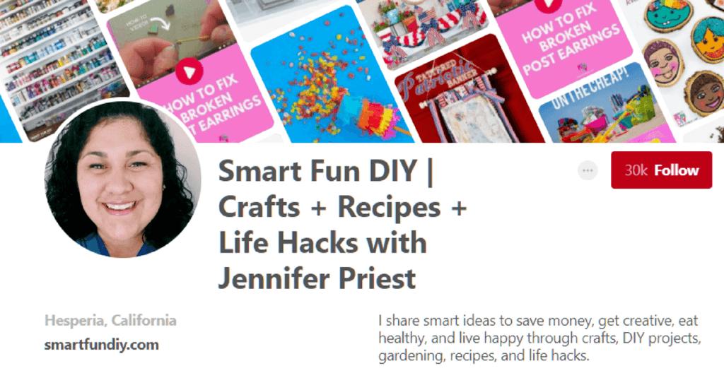 Smart Fun DIY Pinterest Page