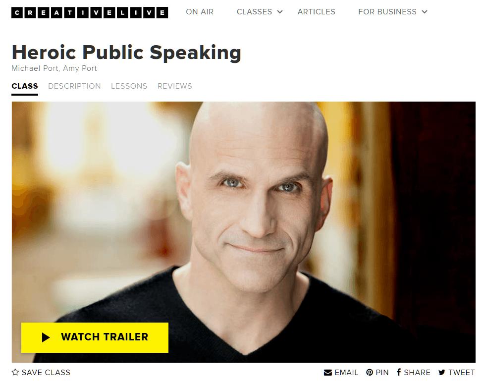 Heroic Public Speaking