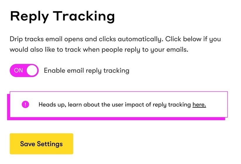 Drip Reply Tracking