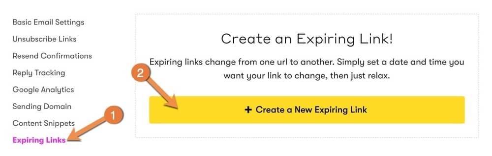 Drip - Create Expiring Link