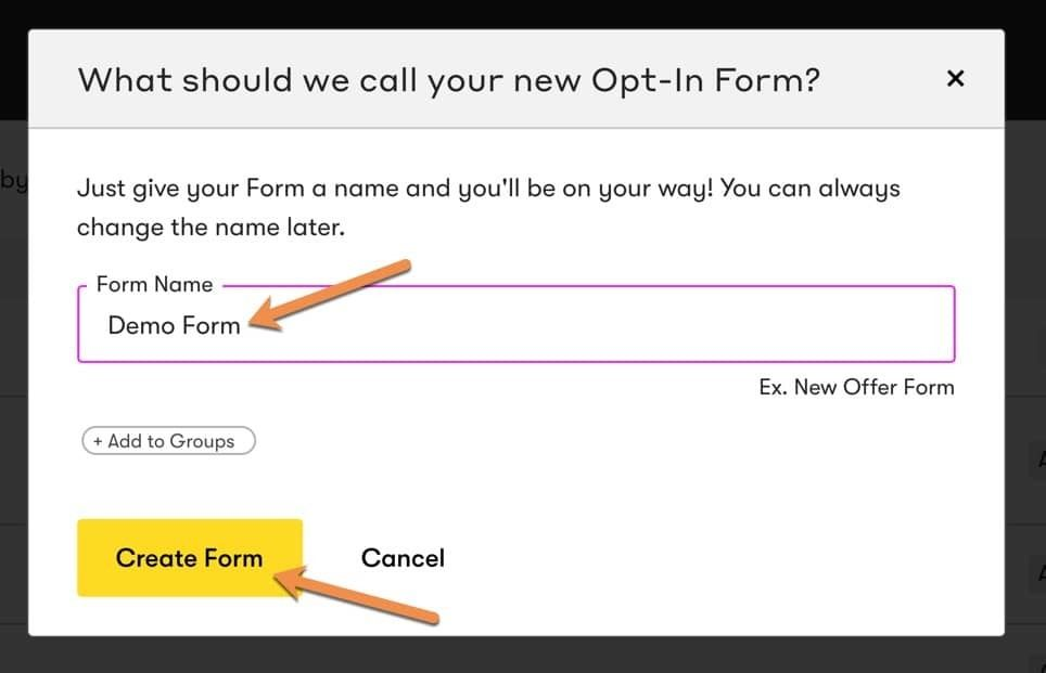 Name Drip Form