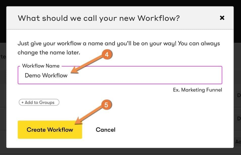 Name Your Automation Workflow in Drip