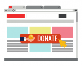 Donate button on a page