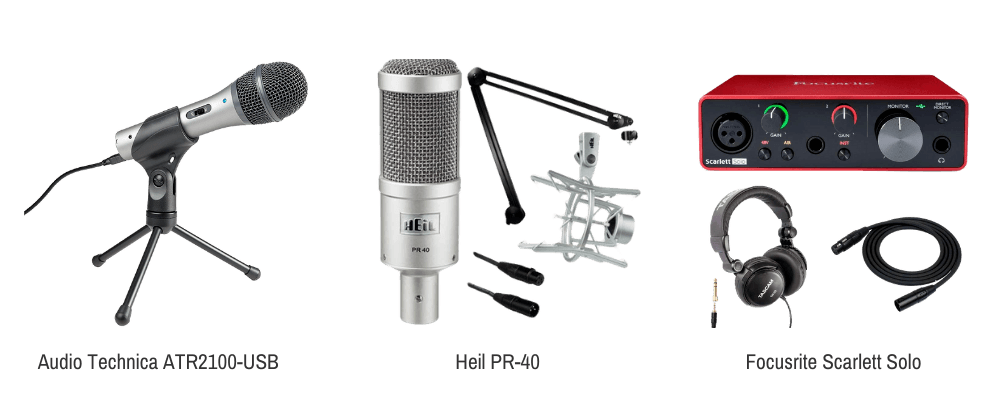 Podcast audio equipment