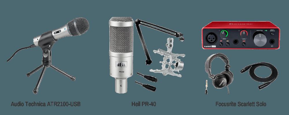 Podcast audio equipment