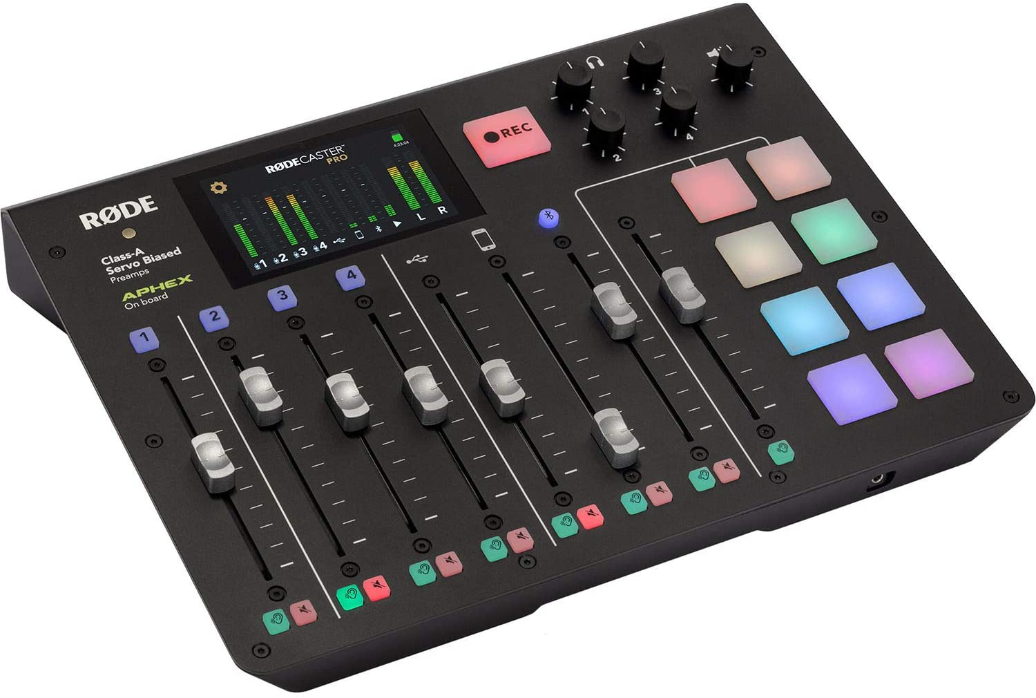 RØDECaster Pro Integrated Podcast Production Console with 32GB Ultra UHS-I microSDHC Memory Card Bundle